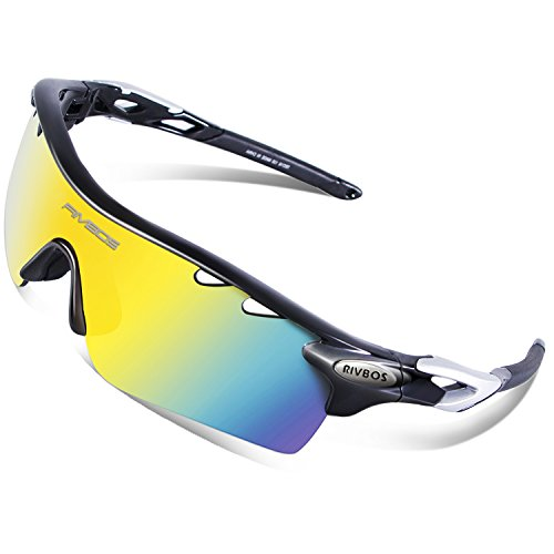 RIVBOS 801 Polarized Sports Sunglasses Sun Glasses with 5 Interchangeable Lenses (UpGrade TR - Sport Sunglasses Online