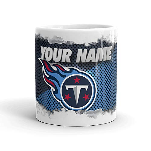 (Tennessee Titans Color Blast Custom Personalized Name Football Coffee Mug Gift (11oz))