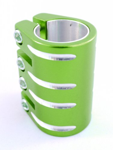 Motion Pro stunt Scooter light Green 4 bolt quad clamp for threaded forks 100mm 110mm (Purple Clamp Scooter Quad)