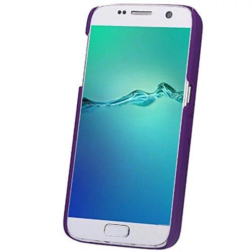 Samsung Galaxy S7 Funda, FindaGift Soft TPU + PC híbrido A prueba de choques Estuche de teléfono con espejo y ranuras para tarjetas Caja del teléfono de las muchachas para Samsung Galaxy S7 Rojo Púrpura
