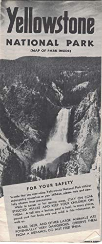 Yellowstone National Park 1952 Travel Brochure (Map of Park Inside)