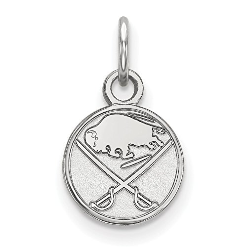 Roy Rose Jewelry Sterling Silver NHL LogoArt Buffalo Sabres X-small Pendant/Charm