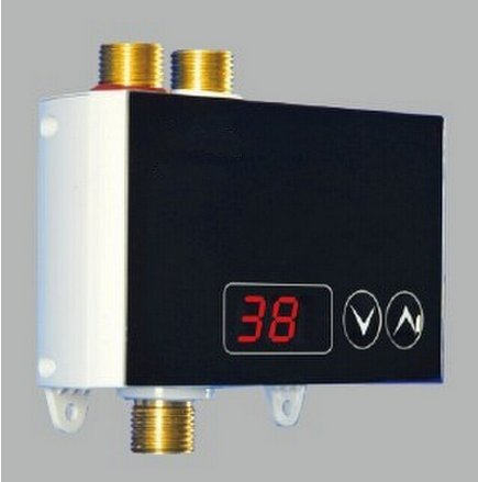 GOWE Electric shower water heater digital touch thermostat faucet thermostat mixer thermostatic mixing valve with temperature display color:instant heater -