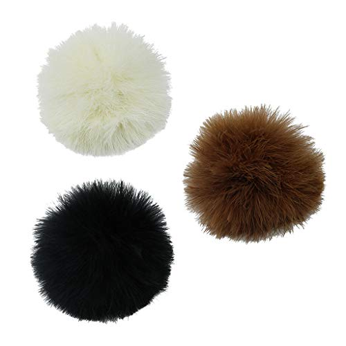 NATFUR 3 Color Fluffy Feather Pom Pom Ball with Safety Pin Removable DIY Decoration Elegant Novelty for Women for Men Perfect Novelty Beautiful Great Fine Lovely