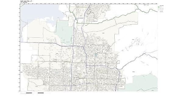 Amazon Com Zip Code Wall Map Of Salt Lake City Ut Zip Code Map Not