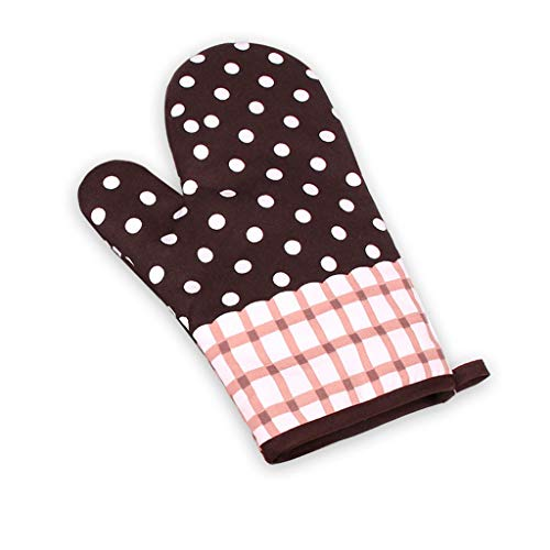 Clearance Sale!DEESEE(TM)Kitchen Cooking Cotton Microwave Oven Gloves Mitts Pot Pad Heat Protected Beige ()