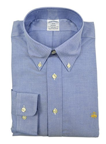 Brooks Brothers Men's Regent Slim Fit Supima Button Down Shirt Chambray Blue Large