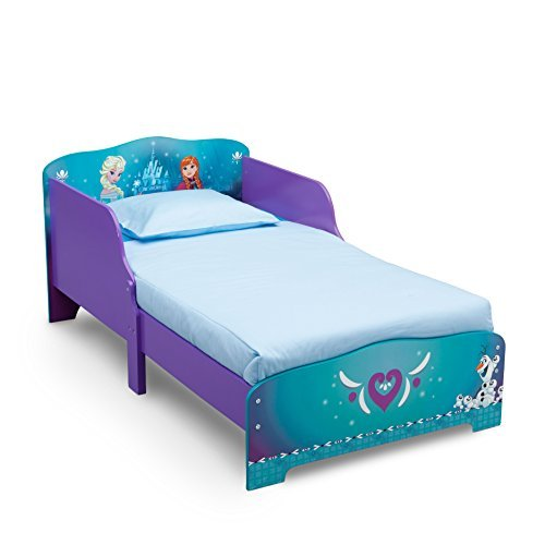 Disney Frozen Wood Toddler Bed with Attached Guardrails, Headboard and ()
