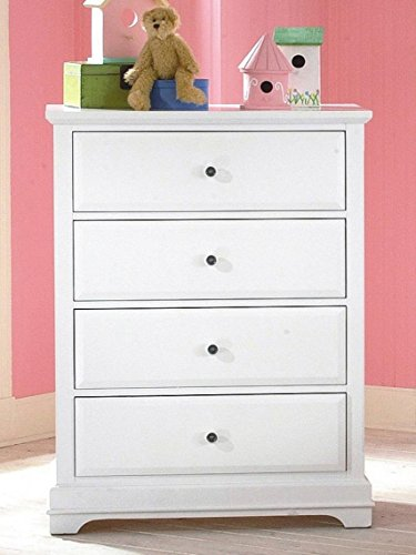 Beatrice Youth 4 Drawer Chest in White Finish by NCF Furniture