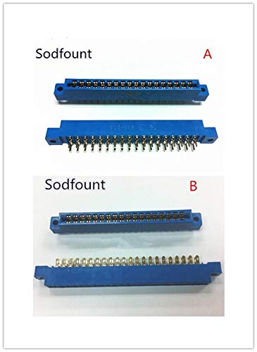 Calvas 5PCS 805 Series 3.96mm Pitch 8P 12P 16P 20P 24P 30P 36P 44P 56P 72P PCB Mount Card Edge Connector - (Color: 30P, Pins: A type)
