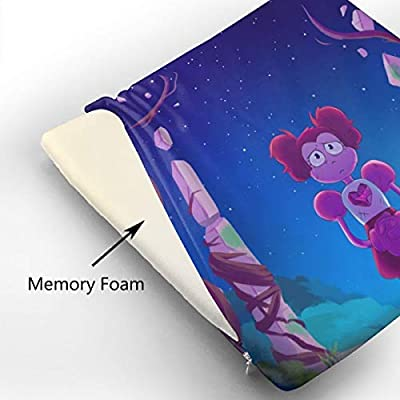 Anime Steven Universe Spinel Square Cushion Thick Large Soft Mat Floor Pillow Seating for Home Decor Garden Party for Chair Pads 15x13.7x1.2Inch: Office Products