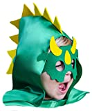 Dinosaur Costume Cape with Spiked Hood and Mask Set Green for Imaginative Play Boys Girls Toddlers