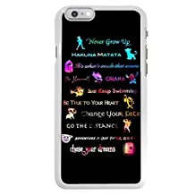 iPhone 6 Case,iPhone 6s 4.7 inch Case,Peter Pan Quotes Never grow up White Plastic Scratch-Resistant Protective Case
