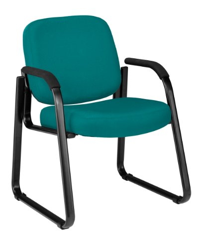 (OFM 403-802 Reception Chair with Arms - Fabric Guest Chair, Teal )