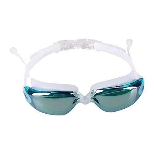 para con lente para celeste azul oídos grandes negro adultos tapones unisex antivaho natación Schleife protección UV Rosa y de Gafas transparente OqXw00