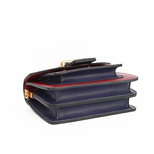 Buckle Ocio Messenger Cuadrado Retro Red Pequeño Belt Wine Bag de Bolso Simple Cuero de Hombro qFSwcCCEx