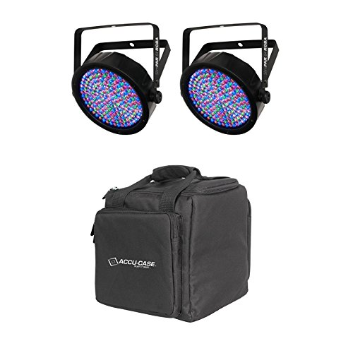 External Compartment Pocket Color (Package: (2) Chauvet SlimPAR 64 RGBA Compact DMX LED Wash Lights + American DJ F2 Par Bag Universal Carry Case Fits 2x Lights With Zippered Front Pocket + Removable Padded Compartment)