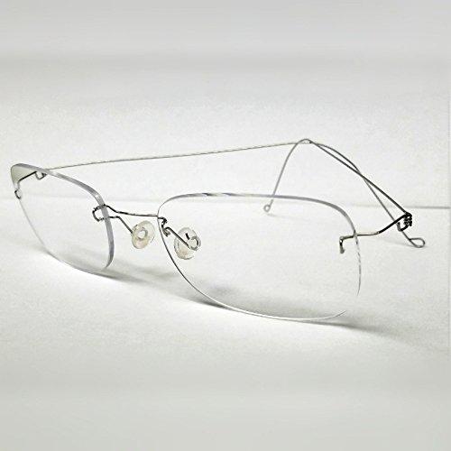Handmade Eyeglasses Silver Rimless Glasses Eyewear NEW like LINDBERG frames, made in the - Lindberg Glasses