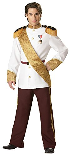 [GTH Men's Storybook Royal Prince Charming Deluxe Theme Party Costume, X-Large (46-48)] (Storybook Prince Adult Mens Costumes)