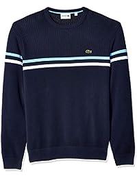 Men's Long Sleeve Mix Stich 2 Stripe Sweater
