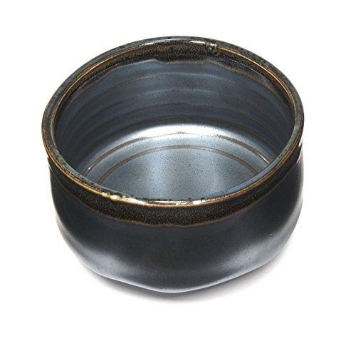 Japanese Handcrafted Matcha Tea Bowl Black, Matcha Tea Cup Ceremony, Authentic Mino Ware Pottery, Kuro Oribe Chawan by Mino Ware (Image #3)