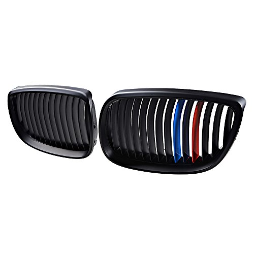 Matte Black M Color Kidney Grille Grill Replacement for BMW Car 328i 335i E92/ E93 (2008 Bmw 3 Series 335i 2dr Coupe)