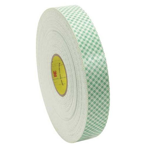 3M 4016 Double Sided Foam Tape, 1/2