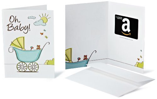 Amazon.com $1000 Gift Card in a Greeting Card (Oh, Baby! Design) (Amazon Gift Card Mom)