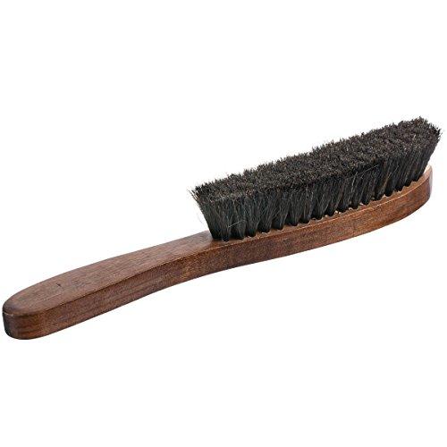 Home-it Hat Brush 100% Horse Hair bristles Good Grip, Hardwood Handle