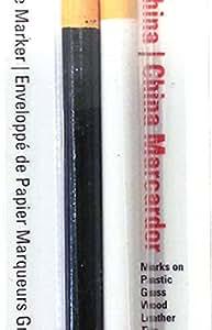 General Pencil 1240ABP China Marker Multi Purpose Grease Pencil, Black/White, 2-Pack