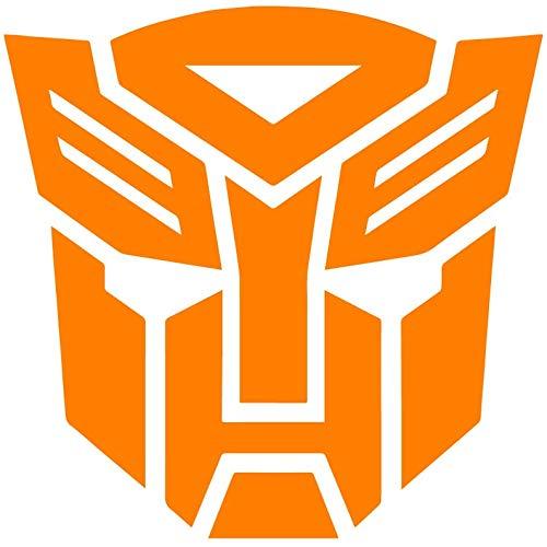 zhehao Transformers Autobot Logo Vinyl Decal - Autobot Tumbler Decals - 1980's Transformers Cartoon Emblem Logo Decal (11x10.9 inches, Orange)