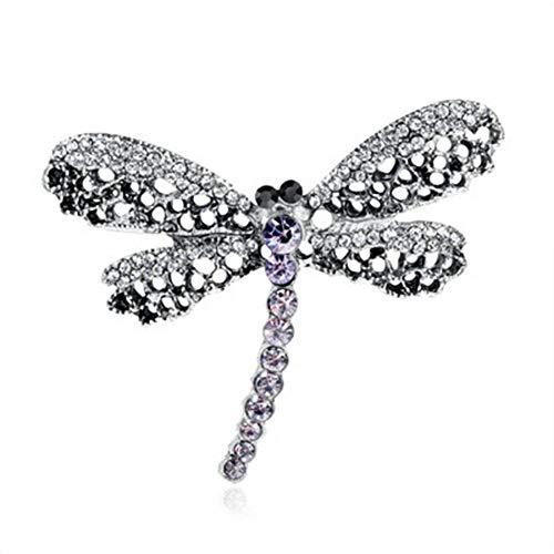 Dragonfly Shape Rhinestone Women Fashion Jewelry Badge Lapel Collar Pin Brooch
