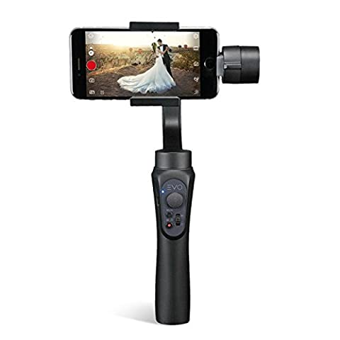 EVO SHIFT 3 Axis Handheld Gimbal for iPhone & Android Smartphones - Intelligent APP Controls for Auto Panoramas, Time-Lapse & Tracking + Built in Phone Charging - Includes 1 Year US Warranty | (Ultimate Android Smartphone)