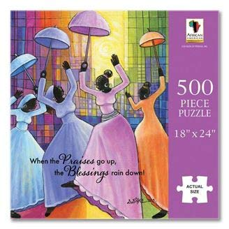 "Search : African American Expressions - Praises Go Up Puzzle (500 Pieces, 18"" x 24"") PUZ-14"