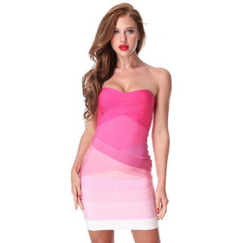 CIEMIILI Women Celebrity Runway Bodycon Sexy Bandage (Runway Clothes)