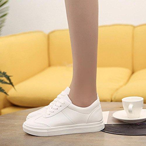 Binmer (tm) Donna Primavera / Autunno Tempo Libero Scarpe Bianche Piatte Scarpe Da Viaggio Casual Bianco