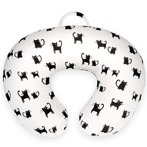 Nursing Pillow Covers- Nursing Pillow Slipcovers for Breastfeeding Moms,Ultra Soft Snug Fits On Infant Nursing Pillow,Cats Pattern