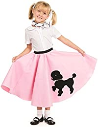 Poodle Skirt with Musical Note printed Scarf by Kidcostumes