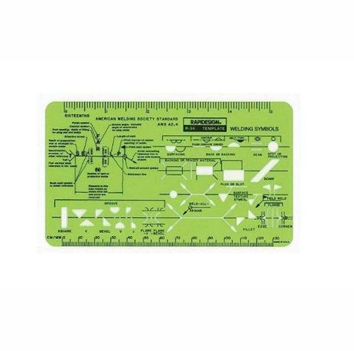 Rapidesign Welding Pocket-Size Template, 1 Each (R34) ()