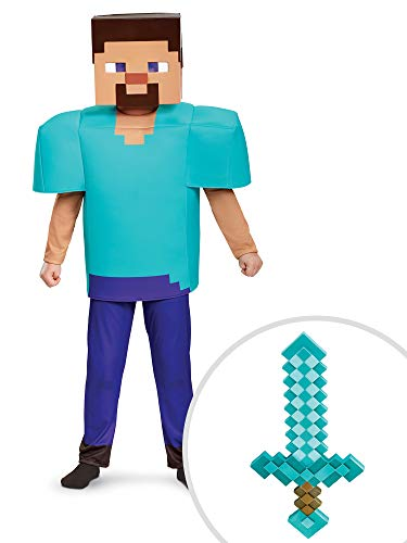 Minecraft Deluxe Steve Costume Kit Kids Medium With