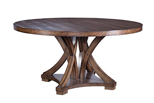 Furniture At Home Selwyn Collection Round Dining Table, Antique Brown