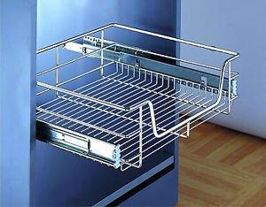 Draht Korb 300 mm, chrom für Schlafzimmer oder Küche Schrank (300 mm ...