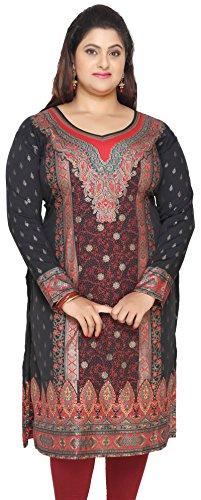 Maple-Clothing-Womens-Plus-Size-Dress-Indian-Tunics-Kurti-Long-Top