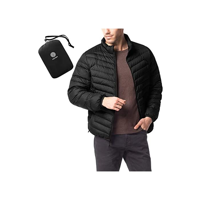 41r2w3ECcSL ¡SÚPER LIGERÍSIMO! Definitivamente, más que ligero: con el peso de una camiseta, sentirás poco más que nada de penso. ¡SÚPER CÁLIDO! Sorprendentemente, a pesar de ser ligero como las plumas de su interior, estas chaquetas son de las prendas más cálidas del mercado. MATERIAL DEL INTERIOR, MARAVILLOSO: 90% plumón de pato, 10% pluma repelente al agua.