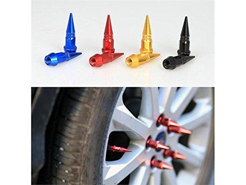 Gelaiken Reduces Air Loss Universal Car Universal Bullet Head Valve Cap Modified Tip Valve Bicycle Motorcycle(Golden)