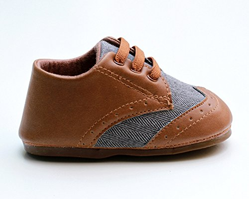 Pictures of Kuner Baby Boys Brown Pu Leather +Canvas Brown 5