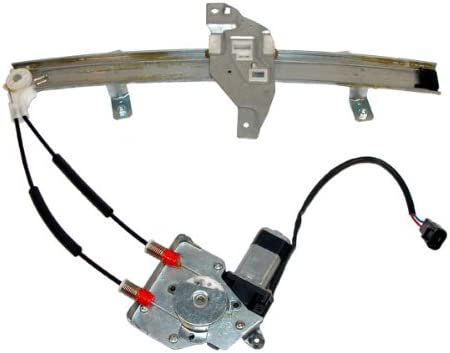 cciyu Rear Left Drivers Side Power Window Lift Regulator with Motor Assembly Replacement Replacement fit for 1997-2003 Pontiac Grand Prix 4 Door