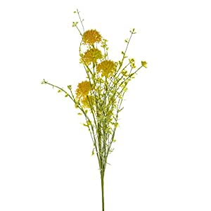 FloristryWarehouse Artificial Wild Cornflower Stem 19 Inches Yellow 11