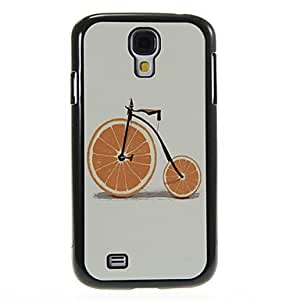 GJY Orange Bicycle Pattern Aluminum&Plastic Hard Back Case Cover for Samsung Galaxy S4 I9500