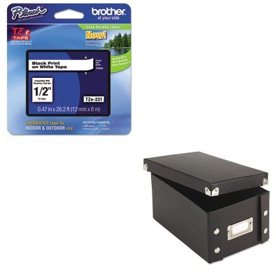 KITBRTTZE231IDESNS01577 - Value Kit - Snap-n-store Snap 'N Store Collapsible Index Card File Box Holds 1 (IDESNS01577) and Brother TZe Standard Adhesive Laminated Labeling Tape (BRTTZE231)